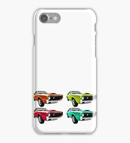 Vintage 1970s psychedelia Muscle Cars  iPhone Case/Skin