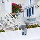 Relaxation in Oia Village, Santorini by inglesina