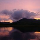 Purple sunset at Loch Spelve on the Isle of Mull Scotland by John Butterfield