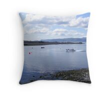 Ferry to Easdale Island Throw Pillow