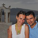 A Couple in Santorini by Peter Hammer