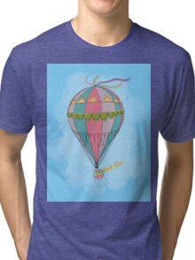 girl in an vintage hot air balloon Tri-blend T-Shirt