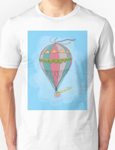 girl in an vintage hot air balloon Unisex T-Shirt