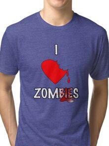 I Heart Zombies Tri-blend T-Shirt