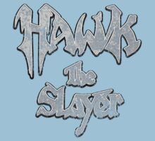 Hawk the Slayer (Destressed White) One Piece - Short Sleeve