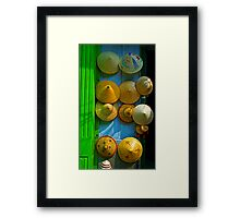Hats. Framed Print