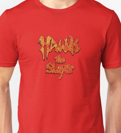 Hawk the Slayer (Destressed Orange) Unisex T-Shirt