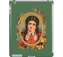 Vintage kitsch lady with black hair iPad Case/Skin