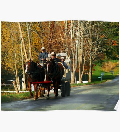 Drivers Ed... Amish Style (best when viewed large) Poster