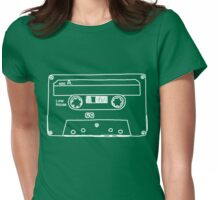 Retro Cassette Tape Womens Fitted T-Shirt