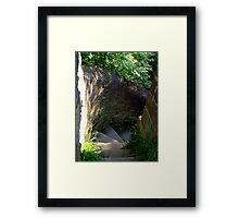 Step into the unknown! Framed Print