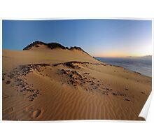 Carlo Sandblow at dawn. Rainbow Beach, Queensland, Australia. Poster