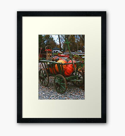 Pumpkin Cart Framed Print