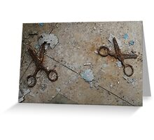 Don't run with scissors! Greeting Card