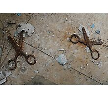 Don't run with scissors! Photographic Print