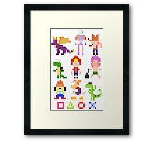 Playstation Legends pixel 2 Framed Print