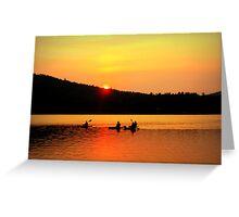 Kayaking on Brettun's Pond, ME Greeting Card