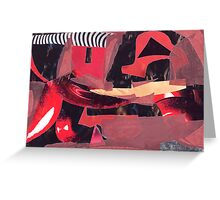 Red and Black 2 Greeting Card
