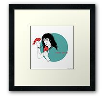 Patti Smith and Red Doves Framed Print