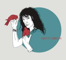 Patti Smith and Red Doves by adrienne75