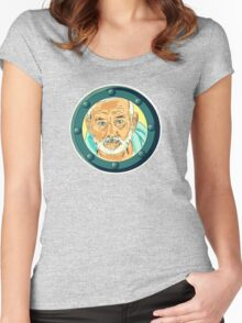 Bill Porthole  - blue Women's Fitted Scoop T-Shirt