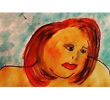 Self Portrait, watercolor Photographic Print