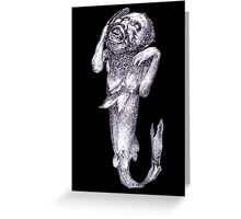 Halloween Horror Macarbe Merman Meerjungfrau Greeting Card