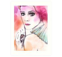 Belle Fille Art Print
