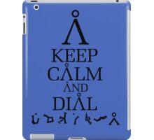 Stargate SG1 - Keep Calm and Dial Earth iPad Case/Skin