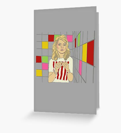 Debbie with coloured blocks Greeting Card