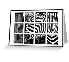 Zebra Puzzle Greeting Card