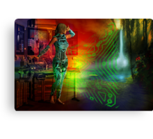 techno future Canvas Print