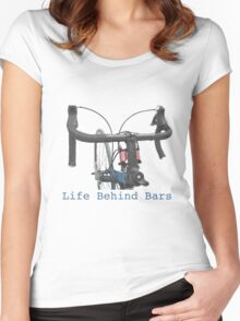 Cycling: a life behind bars Women's Fitted Scoop T-Shirt