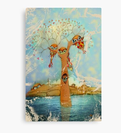 tree of love owls Canvas Print