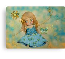 butterfly dress Canvas Print