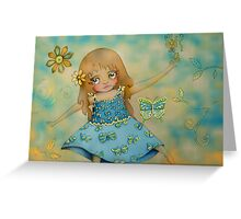 butterfly dress Greeting Card