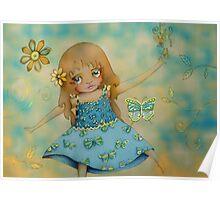 butterfly dress Poster