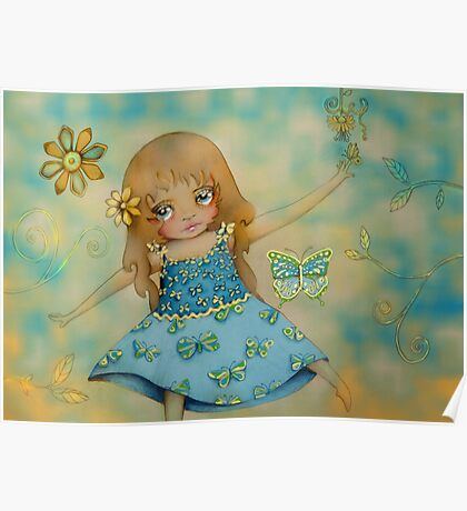 butterfly dress Poster