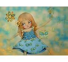 butterfly dress Photographic Print