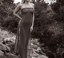 Desert Dress - Black and White by Doug Graybeal