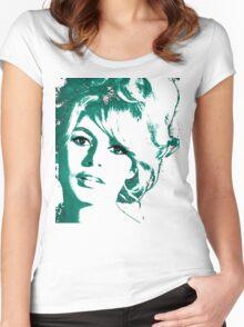 Brigitte Bardot 1960's face Women's Fitted Scoop T-Shirt