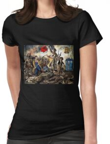 Liberty Leading the Doctor Tee Womens Fitted T-Shirt