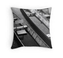 Long Boats - Laos Throw Pillow