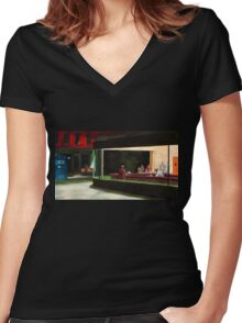 Night-Docs tee Women's Fitted V-Neck T-Shirt