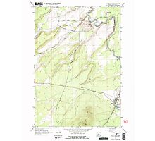 USGS Topo Map Oregon Cline Falls 279375 1962 24000 Photographic Print