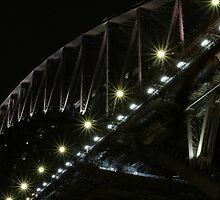 Barbed Wire & Bridge - Sydney Harbour by Nick Rocco