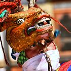 Masked Monk #1, Tashiling Festival, Eastern Himalayas, Central Bhutan  by Carole-Anne