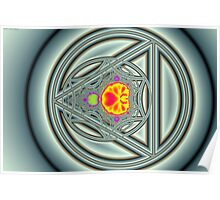 Mandelbrot Circle Triangle Poster