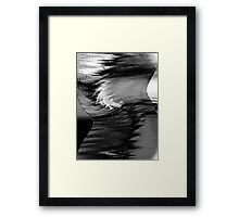 a profile.... hyperactive brain waves Framed Print