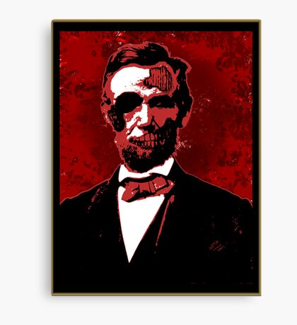 Zombie Lincoln Canvas Print